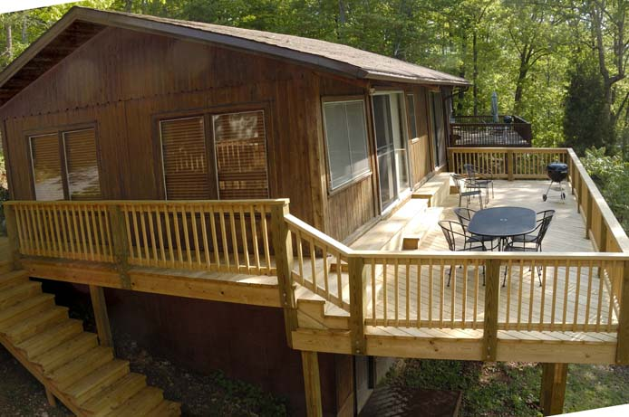 Deck at Cabin 2