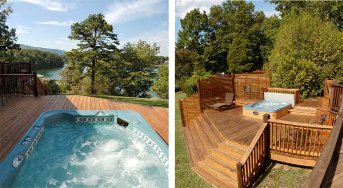Hot Tub deck at Cedar Cabin