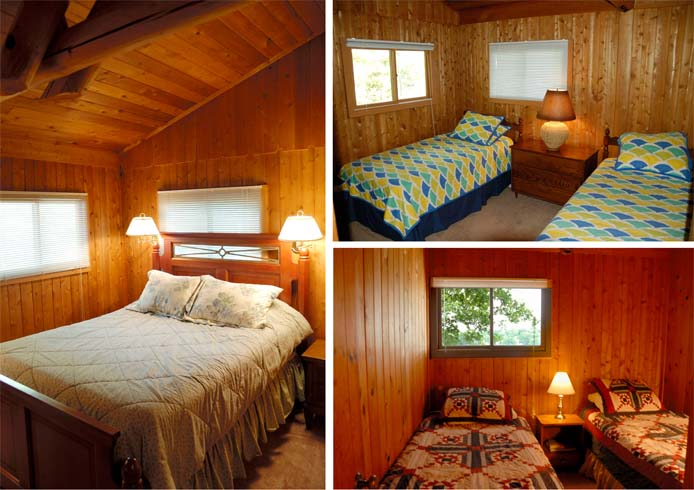 Bedrooms at the Cedar Cabin