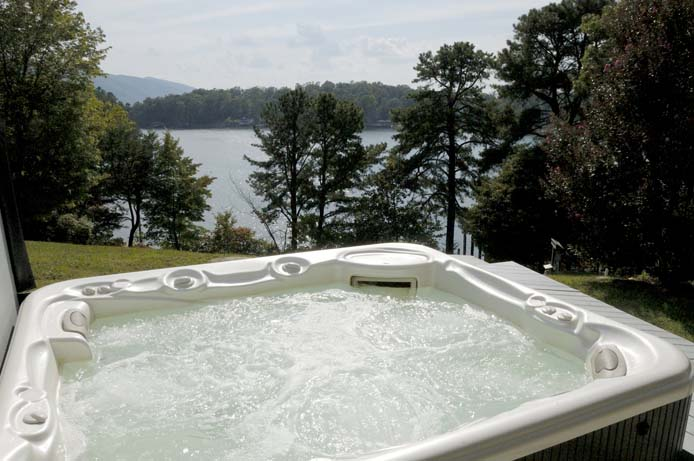 Lake view from hot tub at Main House