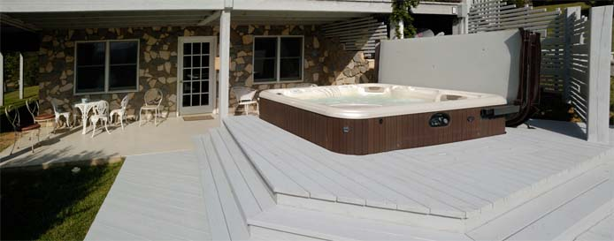 Hot tub deck at Main House