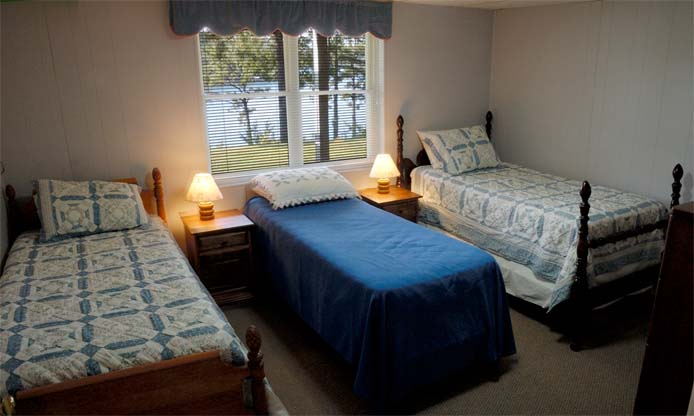"Lower Level ""dormitory"" bedroom at Main House"