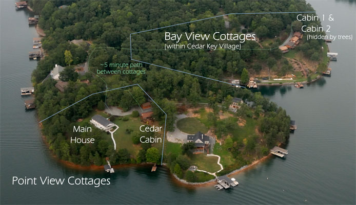 Silver Bay View Cottages Point and Bay View Locations