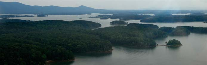 Smith Mountain Lake from the air